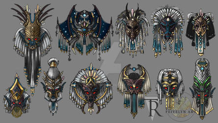Dres Matriarch Mask - Concept Art by Feivelyn