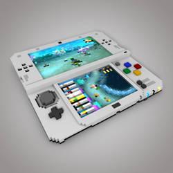 New Nintendo 3DS XL - Voxel art by DarkPro1337