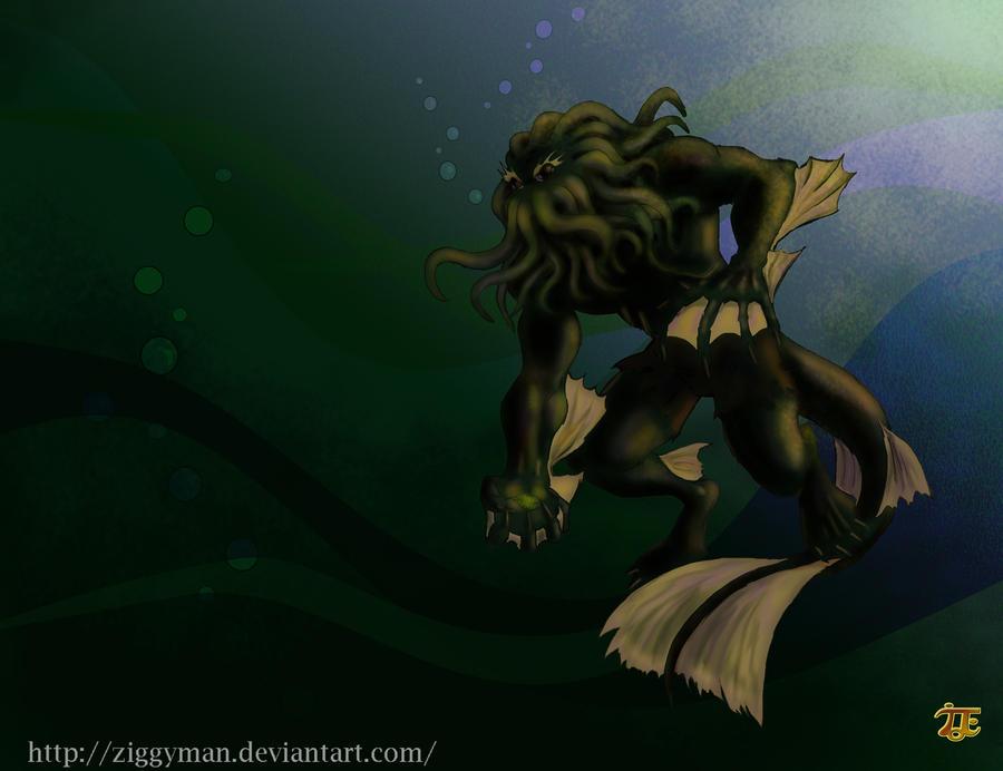 Nightmare Aquaman by Ziggyman