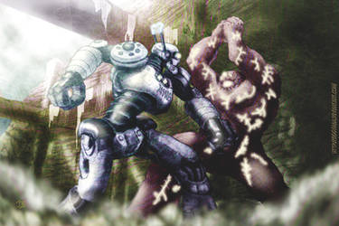 Robot vs Golem