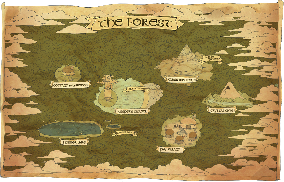 Map Of The Forest By Katarya