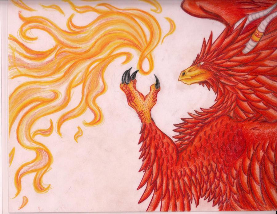 Dragon-Phoenix by yamiyo
