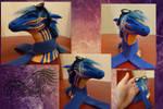Co: Blue Hasia sculpture