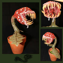 Piranha plant sculpture
