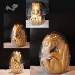 Baby dragon sculpture
