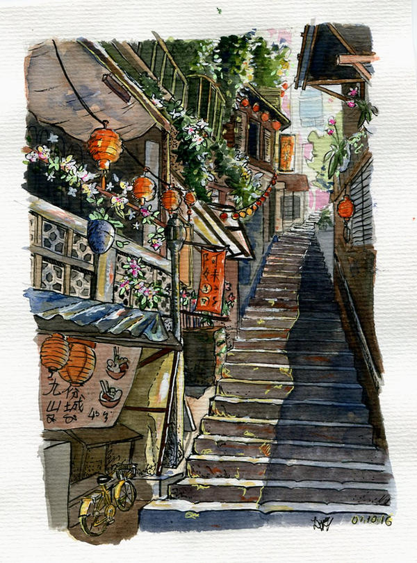 Lost in Jiufen by Lusykia