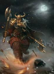Hyperborean warrior by Naranb