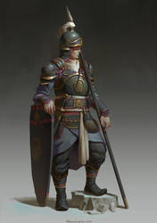 Infantry soldier by Naranb