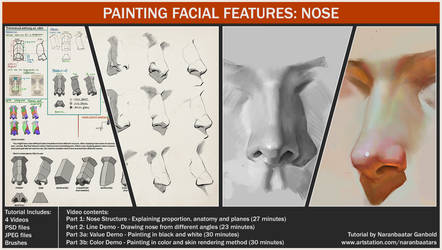 Painting facial features: Nose by Naranb