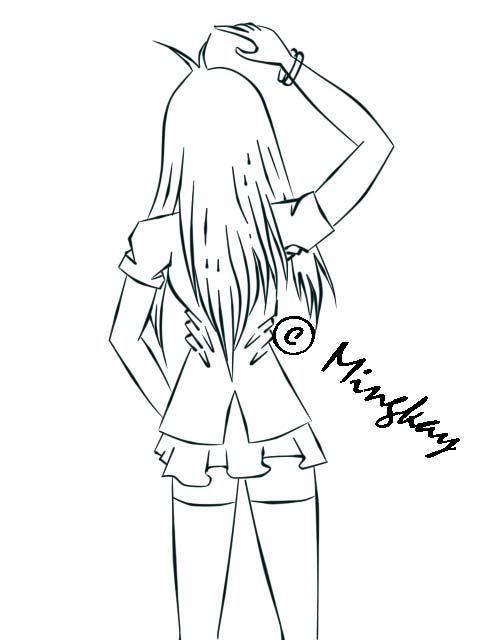 Girl Back View By Mingkay25 On DeviantArt