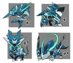 Adopt 65 : Mecha monster III | OPEN (1/4) by I5HIMARU