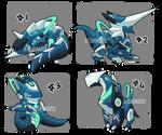 Adopt 69 : Mecha monster VII | OPEN (4/4) by I5HIMARU