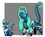 Baby mechmon Evo. For nominee84 by I5HIMARU