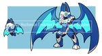 Baby mechmon Evo. For Kingfisher-Gryphon by I5HIMARU