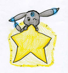 Umbreon Star~ by Xx-BrokenAngel-xX