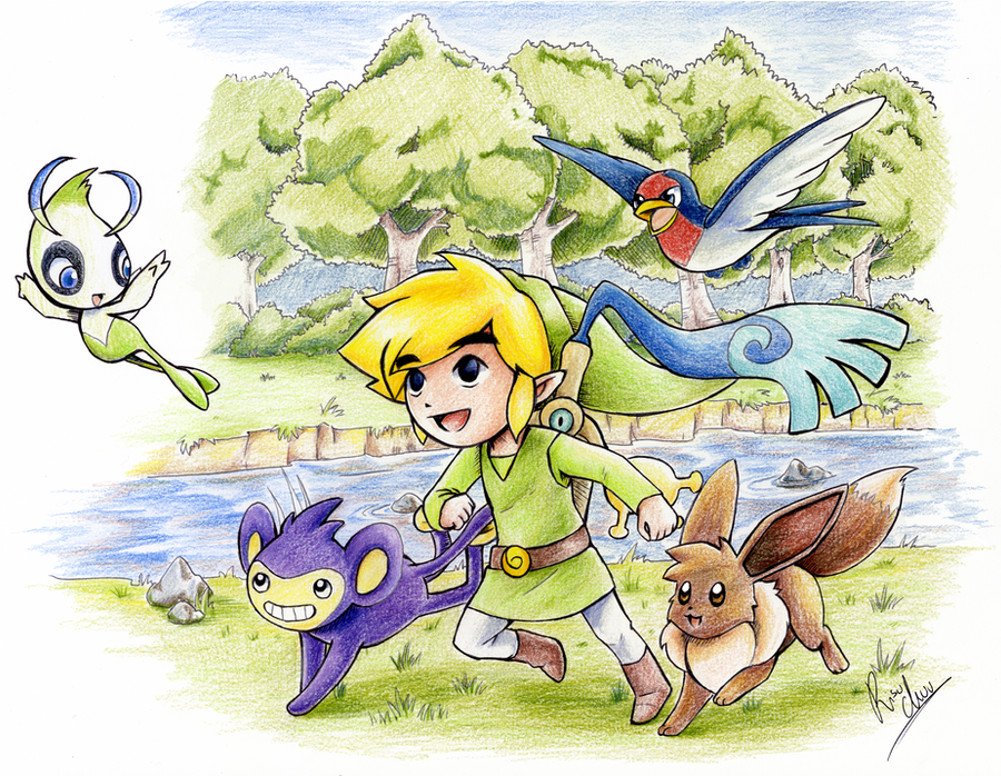 Link and the time traveling pokemon by RisuChuu