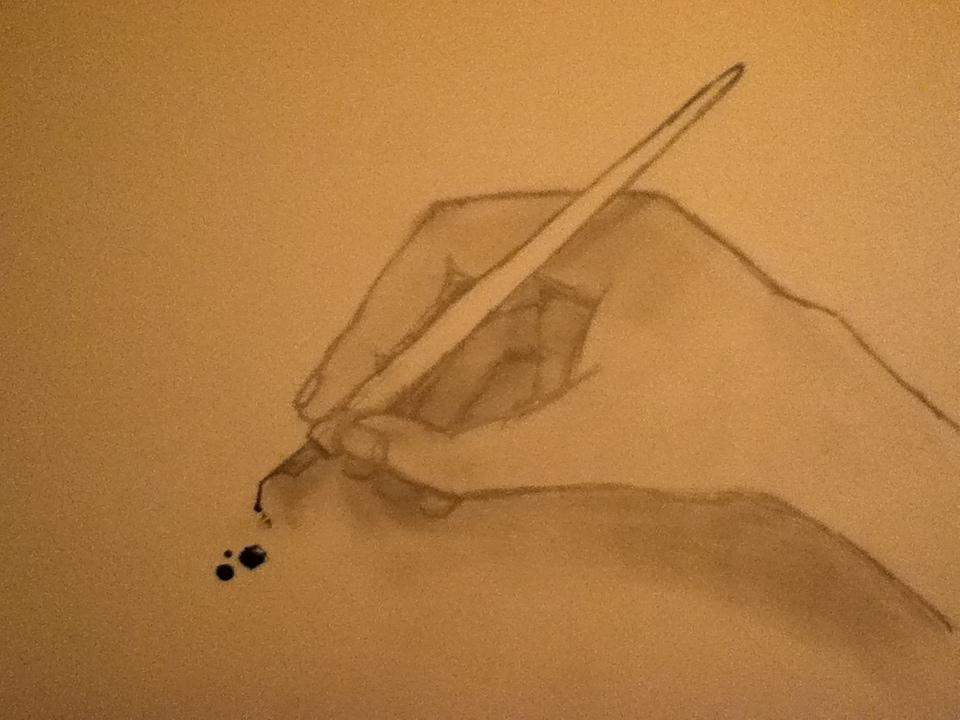 Ink hand by Nina2258