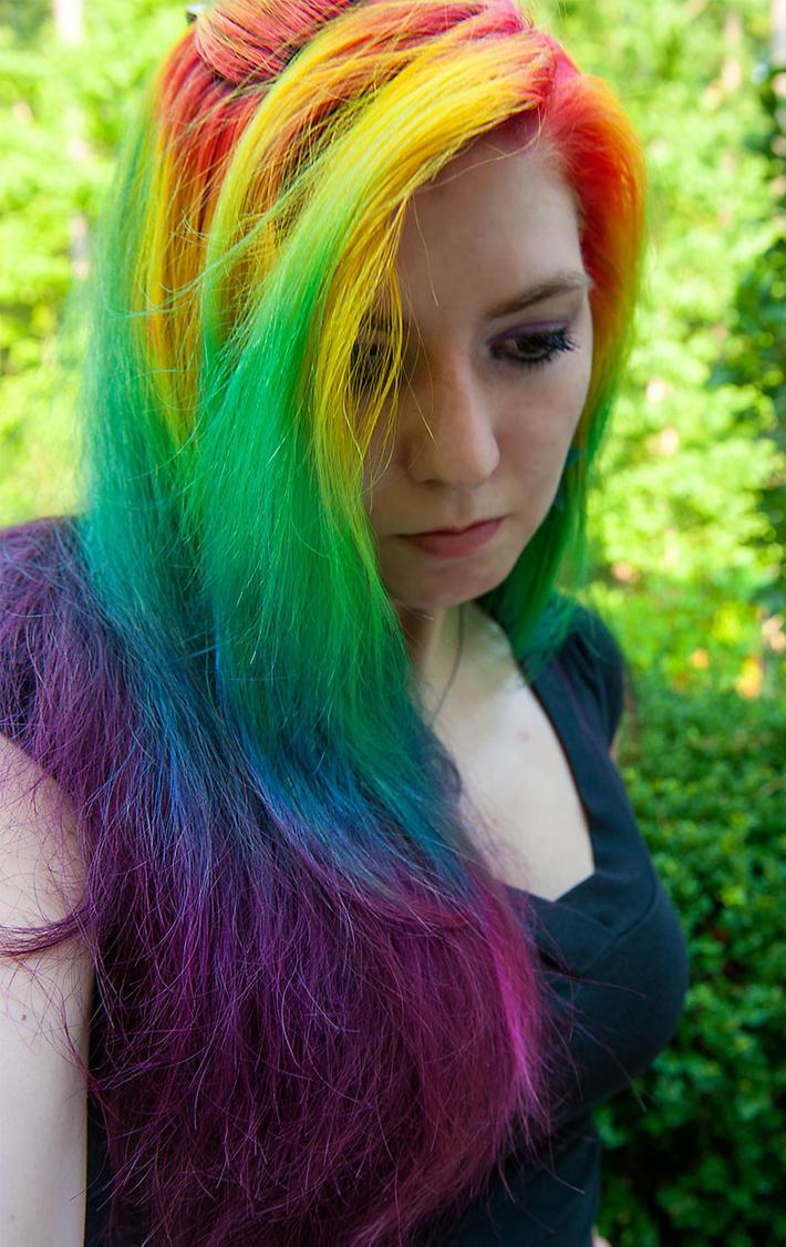14 Radiant Rainbow Hairstyles