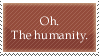 Stamp - Text - Humanity by BlacFyre-Stampage