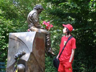Ayrton Senna Statue picture 1 by cynderfan35
