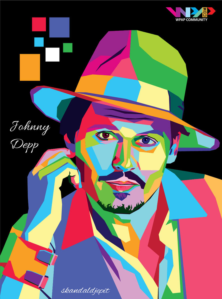 Johnny Depp Wpap By Skandaldjepit On Deviantart