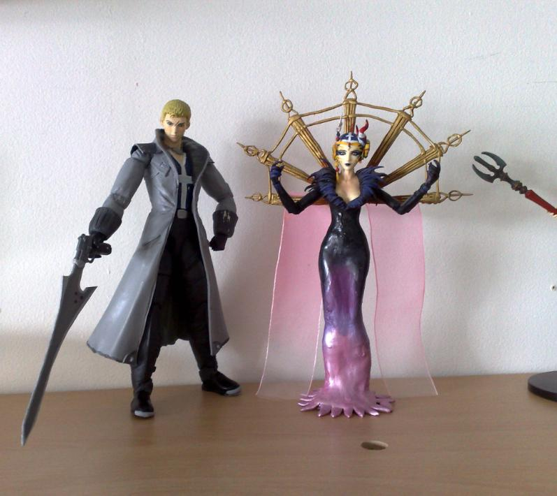 Custom Seifer Edea Play Arts by zelu1984