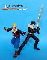 Final Fantasy VIII Zell and Squall Play Arts
