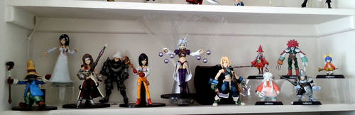 Final Fantasy IX Play Arts setup by zelu1984