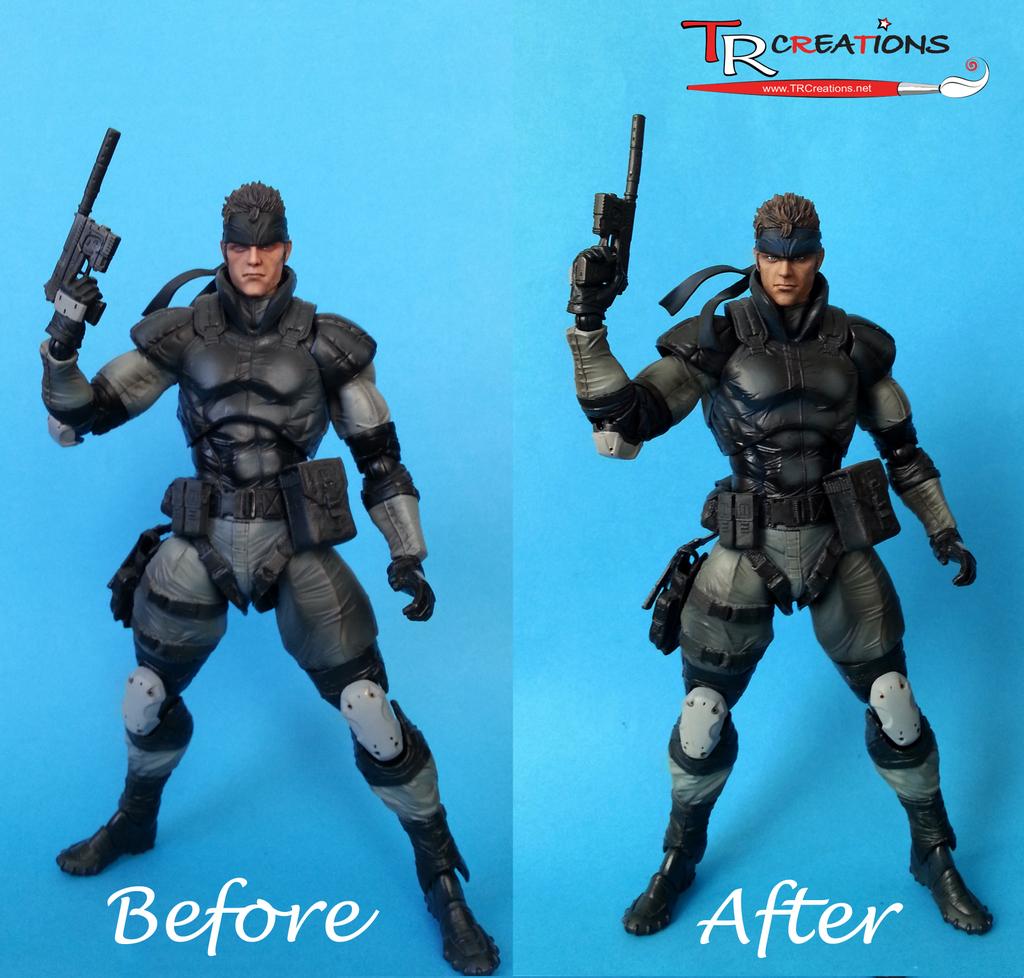 Metal Gear Solid Solid Snake Custom Play Arts By Zelu1984