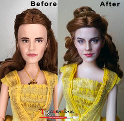 Beauty and the Beast Emma Watson custom doll by zelu1984