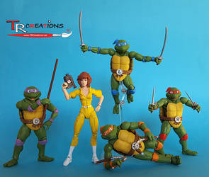 Classic Turtles and my custom April O'Neil :)