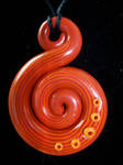Red and Orange Snail Pendant