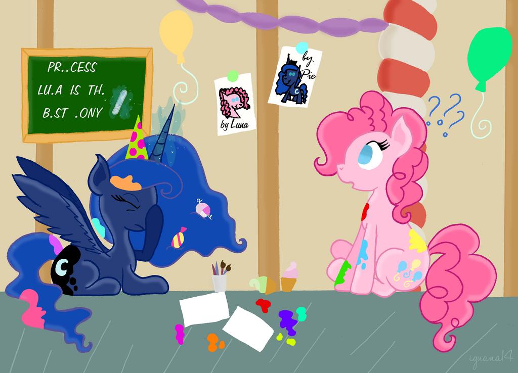 Luna meets her subjects - Pinkie Pie by iguana14