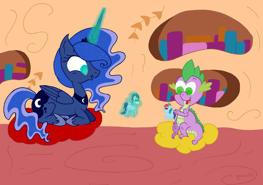 Luna meets her subjects - Spike by iguana14