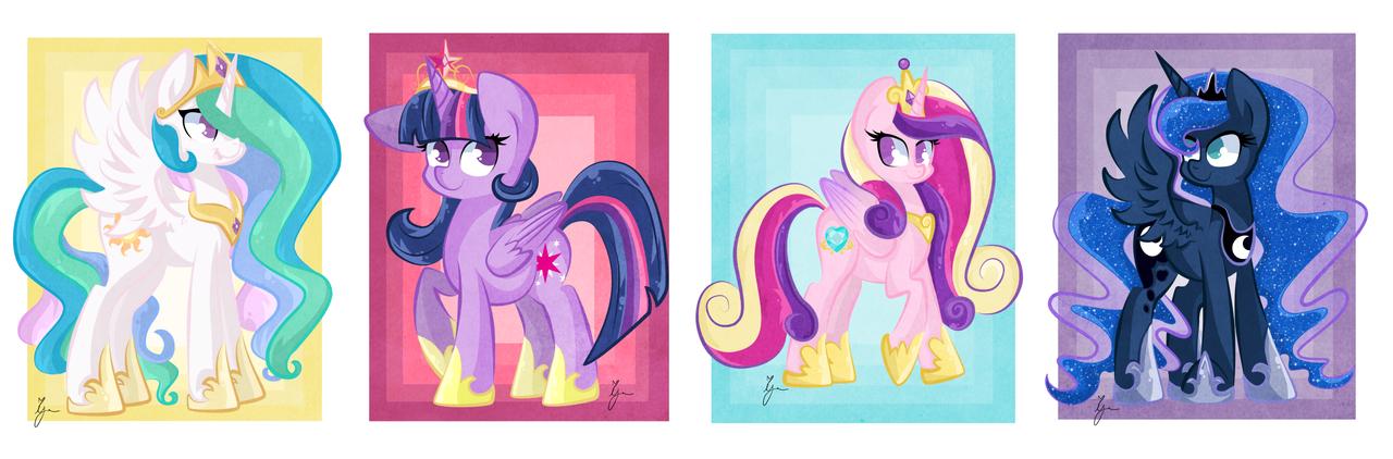 Pretty pony princesses by iguana14