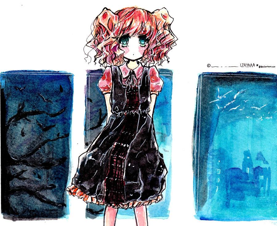 Watercolour try :3 by IZAYAAA