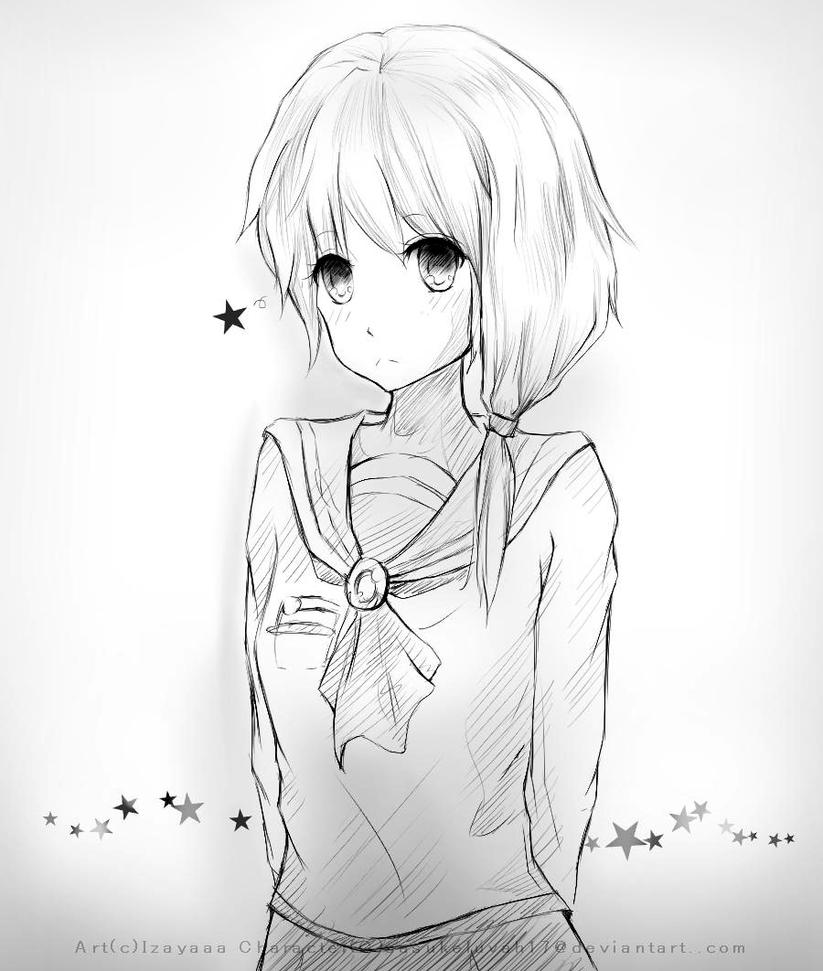 Sketch Commission: .:Aikimi:. by IZAYAAA
