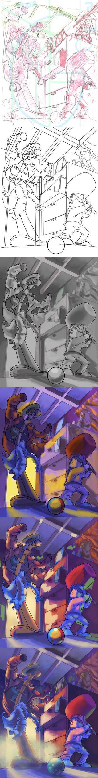 Cazadora de monstruos process by El-Andyjack