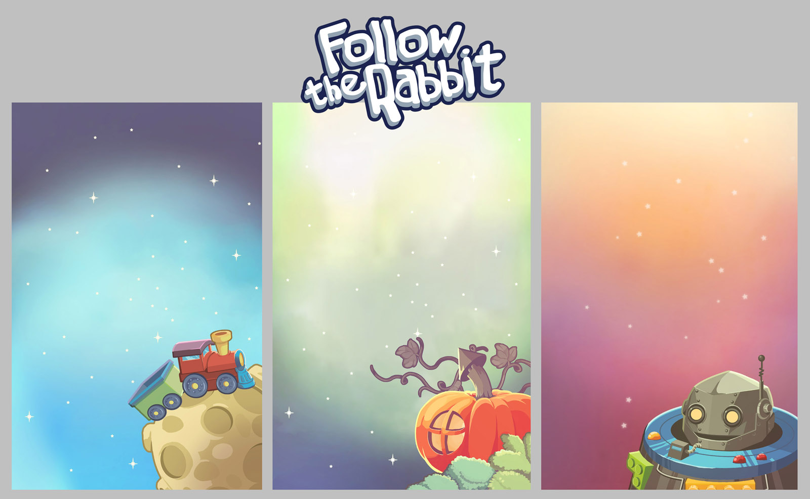 Follow the Rabbit early backgrounds by El-Andyjack