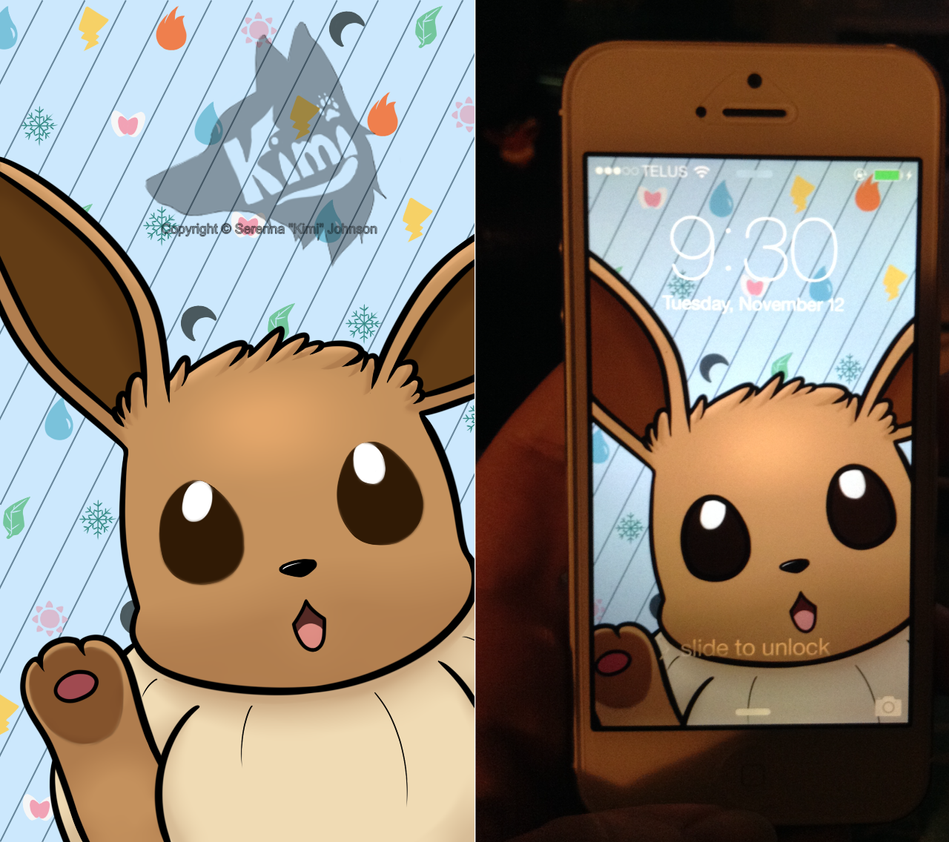 Eevee IPhone 5 Background By Kimi133