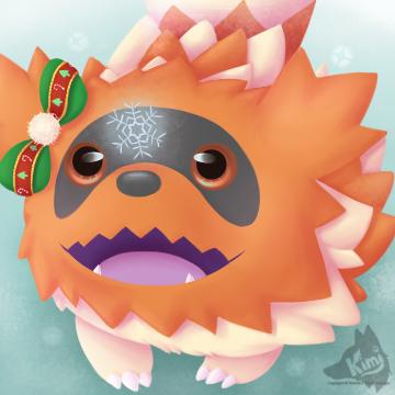 Zigzagoon Winter Icon by Kimi133