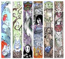 Ghibli Bookmarks by PhantomSeptember