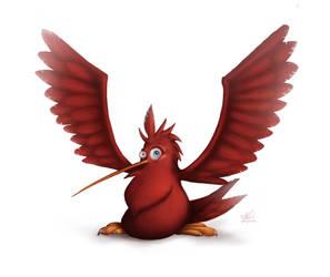 Red Fat Bird by CarloValente