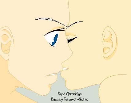 Almost A Kiss Couple Base by Forse-un-Giorno