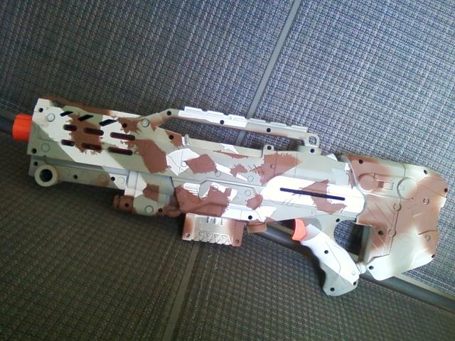 Winter Camo Nerf Gun 2 by ThePitbullLover