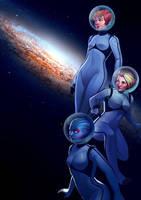 Girls in space by jowyn