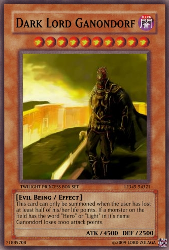 Dark Lord Ganondorf Card by ZolagaRamora