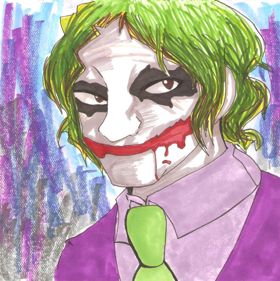 how to draw joker smile