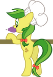 Apple Fritter decorating cupcakes for Chrysalis