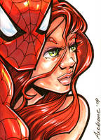 Spidey and Mary Jane SC by Axebone